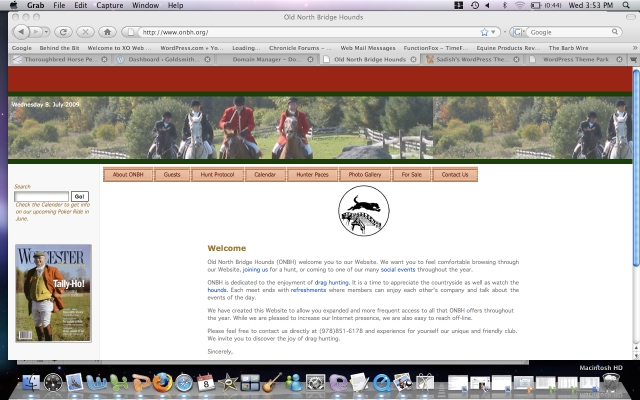 The original site did not allow you to easily size photos for the header and was text heavy. Since all members love to see photos and videos of the hunt, I thought we would be better served by a design that enabled us to easily incorporate images.